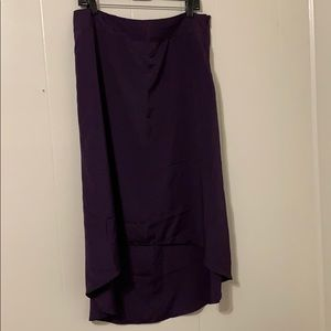 The Limited Dark Purple High Low Skirt